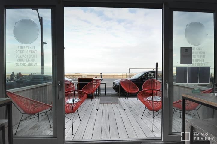 Volledig ingericht handelsgelijkvloers, zeer goed gelegen op de zeedijk aan het Rubensplein.