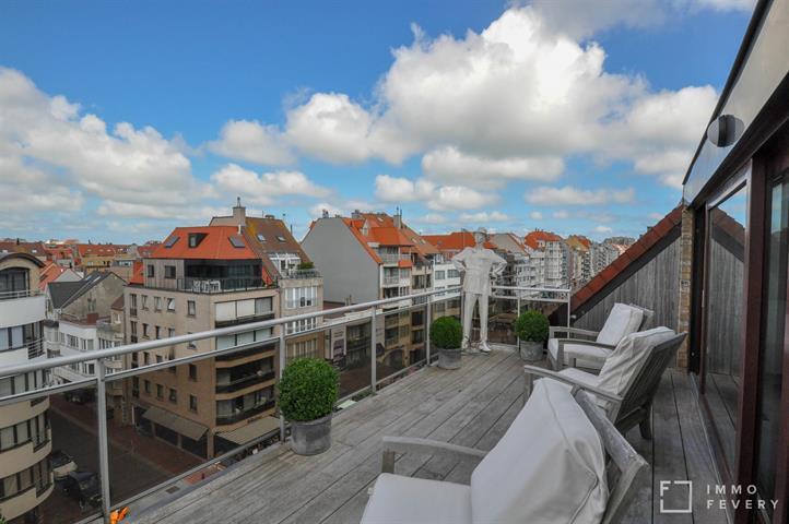 Très grand appartement penthouse situé très centrale, du coté ensoleillée sur l'avenue LIPPENS.