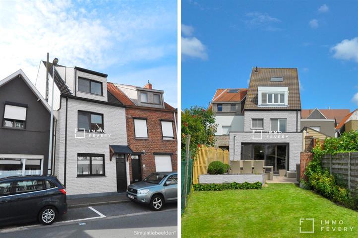 Ruime gezinswoning in hartje Knokke met leuke zongerichte tuin!