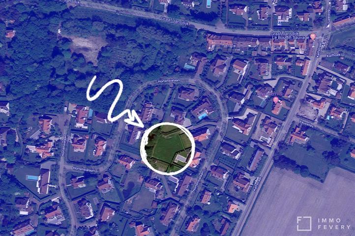 Mooi gelegen perceel bouwgrond gelegen in een rustige, residentiële wijk te Knokke.