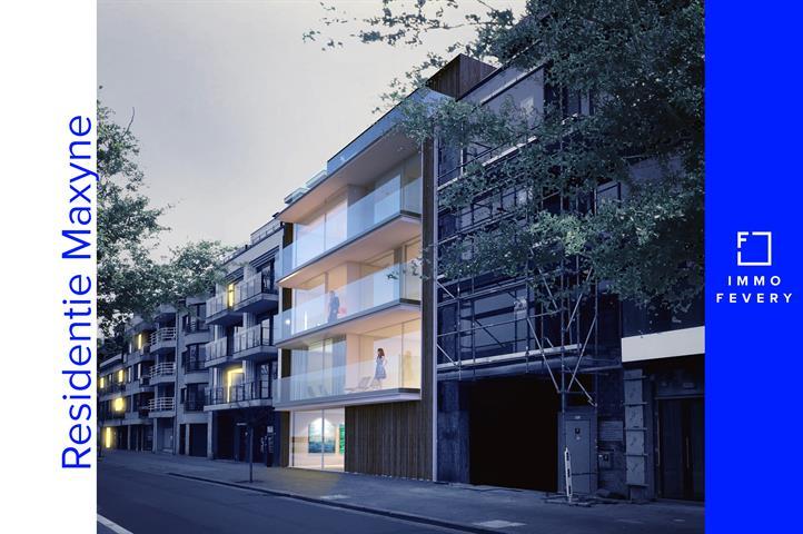Hedendaags nieuwbouwappartement met 2 slpkm. en open zicht, in het centrum van Knokke.